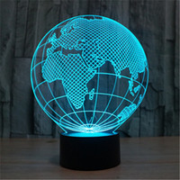 asia map - 3D Globe LED Home Decorative Bedside Desk Lamp USB World Map Europe Asia America VR Projection Christmas Nightlight A