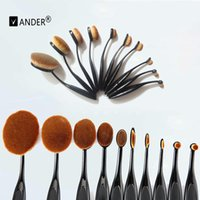 Wholesale 10pc Oval Cream Power tooth brush shape Professional Makeup Brush Beauty Cream Cosmetic Puff Batch Toothbrush For Woman Beauty
