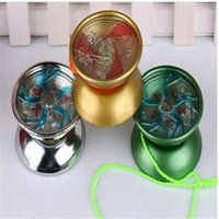 Wholesale 3PCS HOT sell Yoyo Toy professional Mini Yo alloy metal ball flash educational yo yo ball