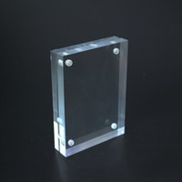 Wholesale 5 inch clear acrylic magnet photo frame