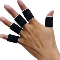 basketball finger bands - Unisex Sports Elastic Antiskid Fingerstall Finger Protective Bands Sleeves Finger Guard Basketball Volleyball Footbal Fingerstall LJJP31