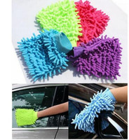 Wholesale Car Hand Soft Cleaning Towel Microfiber Chenille Washing Gloves Coral Fleece Anthozoan Car Sponge Wash Cloth Car Care Cleaning