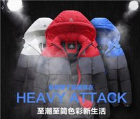 Wholesale New Arrival Men Winter Fashion Casual Down Parka Hooded Man Cotton padded Coat Jacket Windproof High Quality Plus