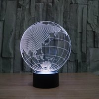 amazing touch - FS Amazing D Illusion led Table Lamp Night Light with europe earth shape with color light