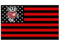 banner grommet - Wisconsin Badgers flag ftx5ft Banner D Polyester NCAA Flag metal Grommets