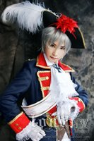 Wholesale Whlesale APH Axis Powers Hetalia Prussia Cosplay Costume full set