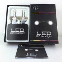 auto led light kits - 1set W LM CREE Q7 H1 H3 H4 H7 H8 H9 H10 H11 LED HEADLIGHT K white Auto Conversion Car LED Kit Replace Halogen xenon