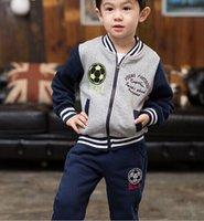 american football jackets - fashion brand kids tracksuits boy sets football baseball clothes Mandarin collar coat casual sports wear Jacket pants years
