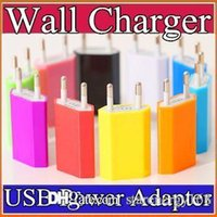 Wholesale 200X V mah Colorful EU US Plug USB Wall Charger AC Power Adapter Home Charger for iphone S Plus Samsung S7 S6 HTC C SC
