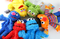 baby elmo costume - 2016 New Elmo Sesame Street Puppet Baby Kids Children Game Plush Toy hand Puppets Talking Props