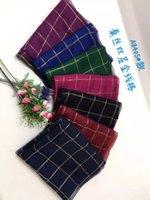 Wholesale Female silk scarves fashion elegant shawl plaid print pashmina multicolour girls autumn winter scarves size CM
