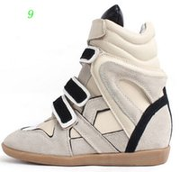 Wholesale Isabel shoes Low Bobby Wedges Sneakers Suede Genuine Leather Size Dense Tooth Soles Height Increasing cm Women s Shoes