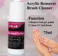 acrylic nail powder and liquid - Ibd ml UV gel polish Acrylic Remover and Brush Cleaner Liquid For Nail Art Powder Nail Tips