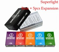 Wholesale Superfight Base add Expansion Set Red Green Blue Purple and Orange Deck Christmas party game birthday game