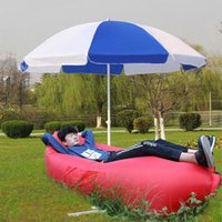 Wholesale 2016 Fast Inflatable Camping Sofa banana Sleeping Lazy Chair Bag Nylon Hangout Air Beach Bed chair Couch