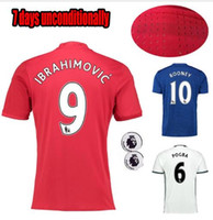 Wholesale custom free Mixed buy DHL best MancHESTER IBRAHIMOVIC Pogba Rugby jerseys AWAY BLUE ROONEY MEMPHIS MARTIAL unITED football S