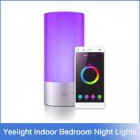 Wholesale Original Xiaomi Yeelight Smart Bed Lamp Multi color Smart Night Light Wireless Touch Control Bed Led Light For Andriod4 IOS7