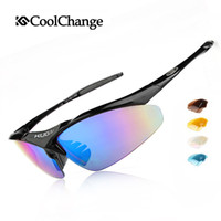 Wholesale 2016 Coolchange Bicycle Glasses Polarized Sunglasses Ballistic Goggles Groups of Lenses Cycling Eyewear Present Myopia Frame