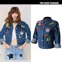 bf jeans - The new arrival europe and the United States women s fashion denim blue coat Hitz loose BF long sleeved jacket windbreaker wind jeans women