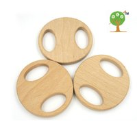 baby biscuits - 10pcs x mm unfinished Big wooden biscuit ring baby holder wooden beech teether toy inch Handcrafted baby gift EA57