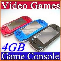 game console - FREE Built in games GB Inch PMP Handheld Game Player MP3 MP4 MP5 Player Video FM Camera Portable Game Console C YXJ