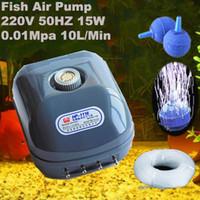 adjustable air pump - 15W Four Outlet Air Flow Adjustable Water Pump Aquarium Fountain Fish Air Pump V HZ Mpa L Min