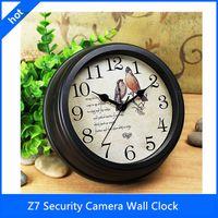 Wholesale Newest HD P Wi Fi full hd camera clock wifi p2p Security Camera Wall Clock IP Clocks for Schools