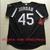 Cheap White Sox #45 Michael Jordan Black Baseball Jersey High Quality Stitched Baseball Shirts Cheap Sports Jerseys Athletic Baseball Wears