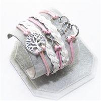anchor bracelete - Vintage Braided Anchors bracelete best friends Leather Bracelet men jewelry heart charm Bracelets for women pulseira