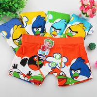 Wholesale Child s Underwear Cotton Boxers Kids Pantines Briefs For Boys Cut Cartoon Character Angry lovely Birds Kids panties cartoon by DHL