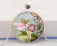 animal vintage illustrations - Fairy Pendant Whimsical Vintage Fairy Illustration glass dome pendant necklace