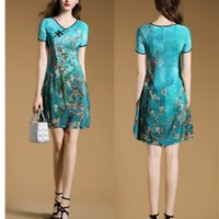 Wholesale 2016 New Summer Elegant Lady s Slim Dress Chinese Vintage Cheongsam