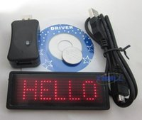 Wholesale 2 quot x0 quot RED LED Scrolling Name Badge Tag Message Sign Board new