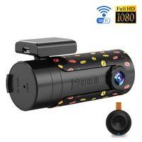 Wholesale Car Cam Wireless - Mini Wifi Car DVR Rotatable Lens Car Camera HD Night Vision Dash Cam Recorder Bluetooth Wireless Snapshot Auto Camcorder