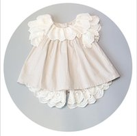 applique clothing for kids - Hug Me Baby Girls Clothes Sets New Summer Korean Fashion Cotton Lace Ruffle Shirt Lace Stripe Short for T Kids Outfits MK