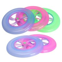 Wholesale Colorful LED Light Spinning Flywheel Toy Outdoor Flying Saucer Disc Frisbee Kid Toy Random Color K5BO