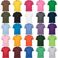 advertising clothes - Casual Men s Clothing Tees Solid Color Cotton Round Neck Short Sleeve Men T shirts Blank Advertising and Cultural Shirts XS XXXL