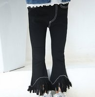 Wholesale In the autumn of new girls pants tassels stretch children all match casual pants