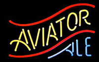 aviator hotel - Aviator Ale Neon Sign Custom Handmade Real Glass Tube Store Beer Bar KTV Club Pub Hotel Adverisement Display Neon Signs quot X14 quot