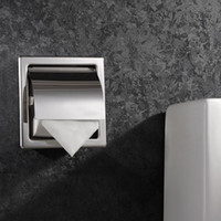 Wholesale High Quality Stainless Steel Polished Chrome Toilet Paper Holder Wall Mounted Paper Box