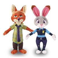 big kid mascots - NEW Movie Zootopia Toys Nick Wilde and Judy Hopps Fox Rabbit CM Stuffed Cartoon Dolls Best Gift Cute Plush Toys mascot