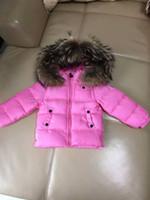 anorak waterproof - ME2 Luxury Brand Boys girls waterproof real raccoon fur collar jacket outwear winter french warm snow coat anorak children parka