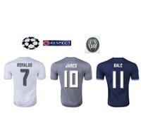 2.016 Tailandia calidad real madrid camiseta de fútbol 15 16 James isco Modric survetement camiseta de fútbol siut maillot de pie