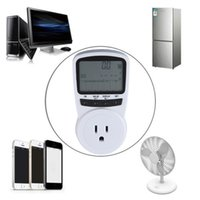 Wholesale TS Electronic Energy Meter LCD Energy Monitor Plug in Electricity Meter for US Plug Monitor Worldwide Store