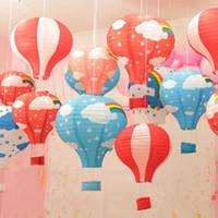 balloon shops - 12 inch Hot Air Balloon Paper Lantern for kindergarten Wedding Party Birthday Decorations Kids Gift Craft shopping mall bar ornaments
