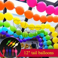 Wholesale NEW Good Quality100pcs quot g tail Latex balloons Wedding Party Birthday decoration balloon single colors
