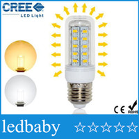 Wholesale CREE High Bright LED lamps E27 LEDs Corn LED Bulb V V V W Energy Efficient Spotlight Wall light SMD