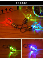 anchor keychain - Bright colorful bulbs Keychain lamp beads key ring small pendant lamp couple key chain