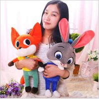 Wholesale Zootopia Fox Nick Rabbit Judy Girl Child plush doll stuffed toy Toys Dolls girls Birthday Christmas gift
