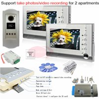 apartments photos - Take Photos Video Recording Indoor Monitors RFID Outdoor CCD Camera Video Door Phones For Apartments Electronic Control Lock